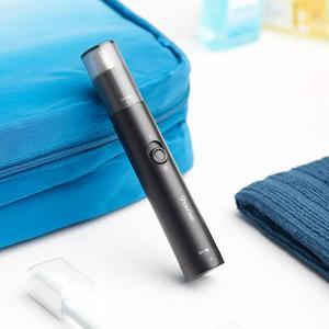 Image 2 - XiaomiMijia ShowSee Mini Portable électrique hommes nez tondeuse amovible lavable Double tranchant 360 tête de coupe rotative