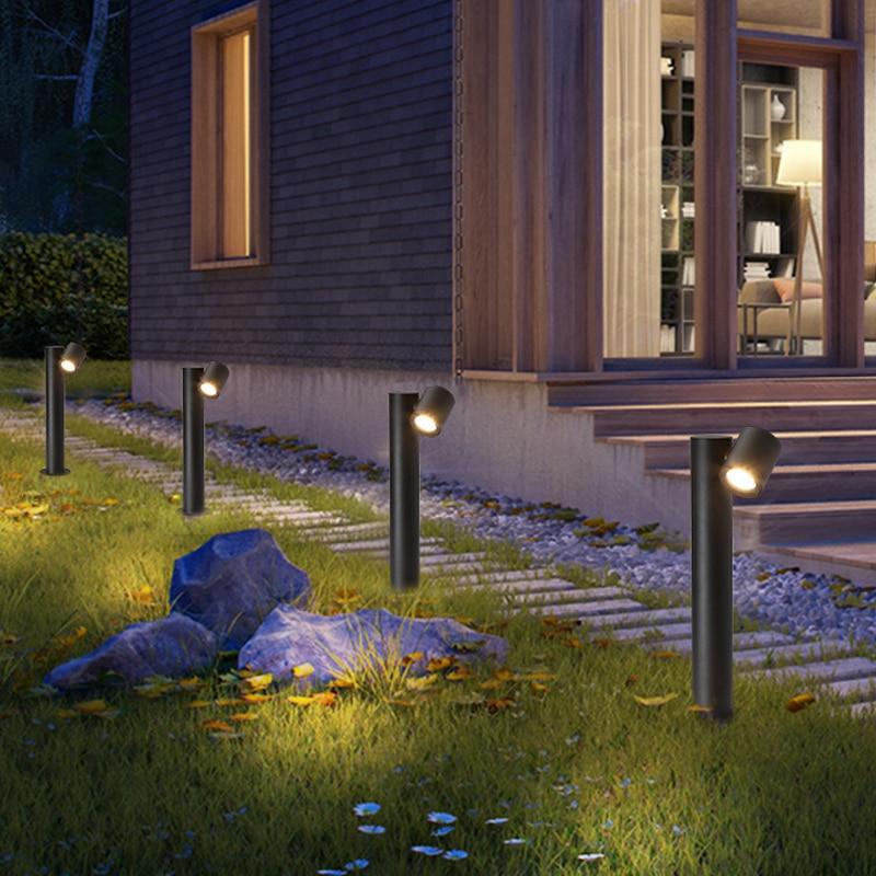 9W Outdoor Led Garden Porch Lawn Lamp Aluminum Waterproof Stand Rotating  Landscape Light Corridor Path Fence Lighting Fixture
