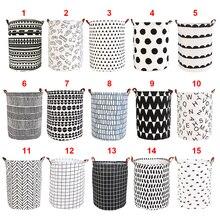1pc dobrável cesta de lavanderia redonda armazenamento bin saco grande cesta dobrável roupas brinquedo cesta balde organizador grande capacidade
