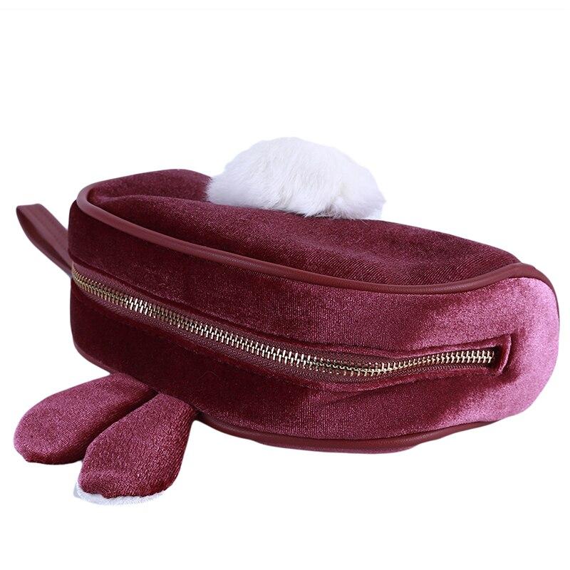 maquiagem de pelúcia menina saco de lavagem