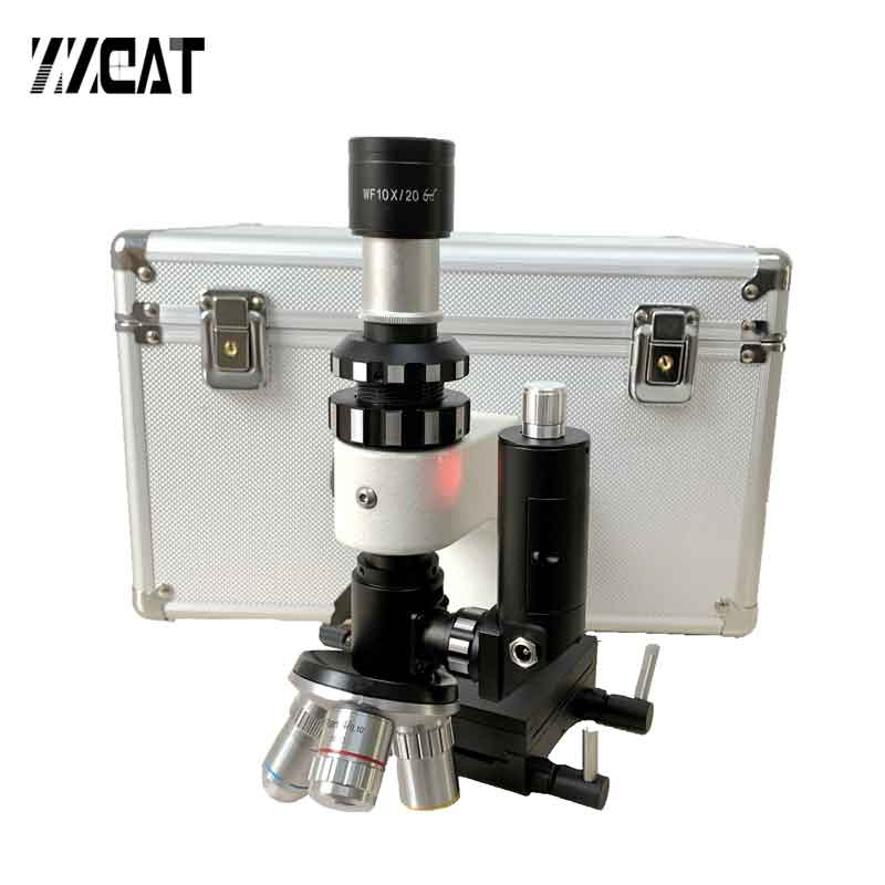 Multi Objective Polarizing Metallographic Microscope Hand Held Portable Metallurgical Microscope for Metal Alloys Appraisal