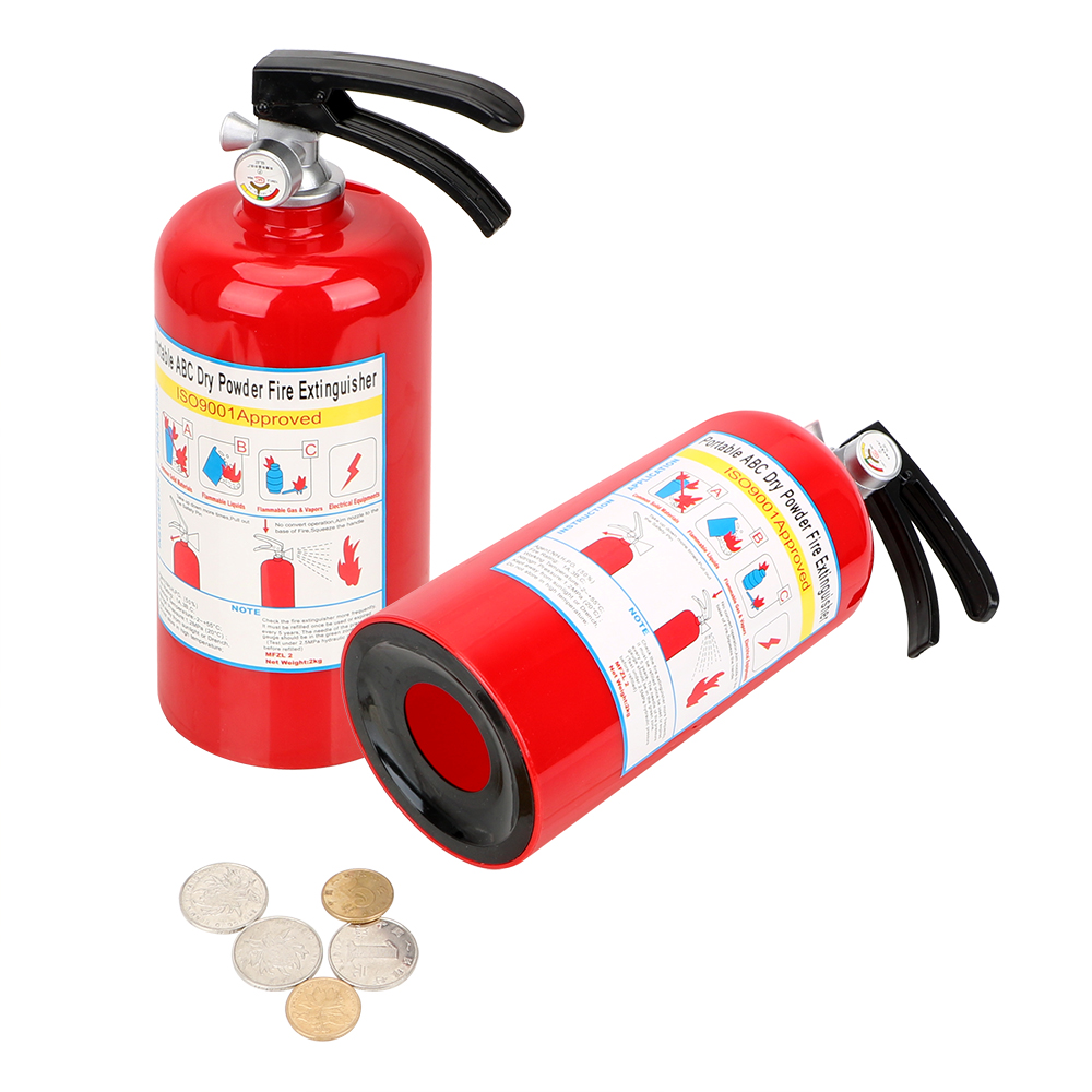 Permalink to Money Saving Box Fire Extinguisher Money Boxes Birthday Gift for Kids Creative Coin Piggy Banks Plastic