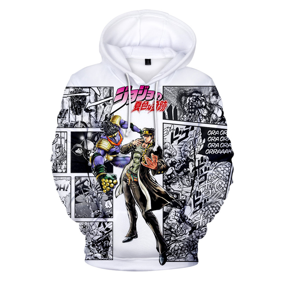 Japanese Manga JOJO 3D Hoodies Men/Women Anime JOJO's Bizarre Adventure Hoodie Sweatshirt Fashion Harajuku Jacket Coat Clothes