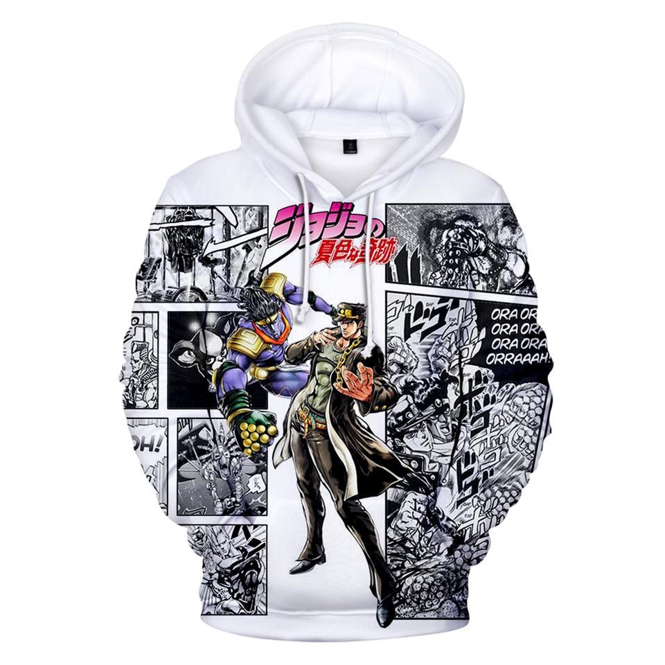 Japanese Manga JOJO 3D Hoodies Men/Women Anime JOJO's Bizarre Adventure Hoodie Sweatshirt Fashion Harajuku Jacket Coat Clothes