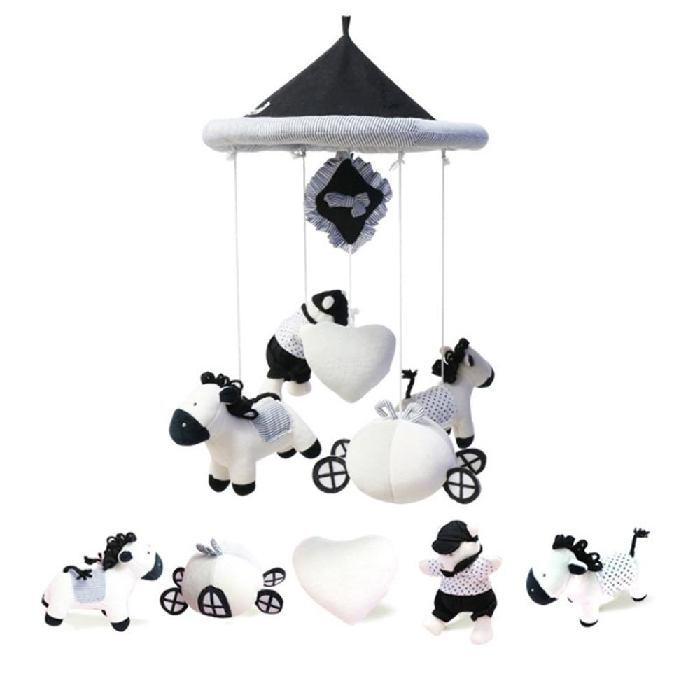 Колокольчик для детской кроватки интеллектуальное развитие милые плюшевые игрушки изображение новорожденный мобильный висячая музыкальная шкатулка от 0 до 36 месяцев кроватка вращающаяся погремушка