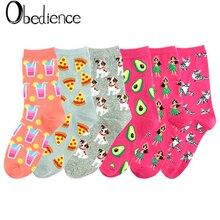 New fashion lady cartoon animal socks cute creative flower animals cat dog printed cotton