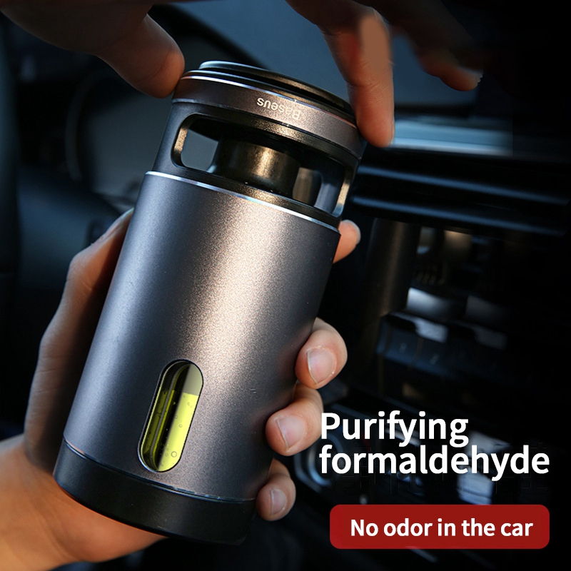 Baseus Car Air Freshener Purifier Deep Space Ions Formaldehyde Air Cleaner Diffuser Car Aromatherapy Diffuser Auto Vent Cleaner