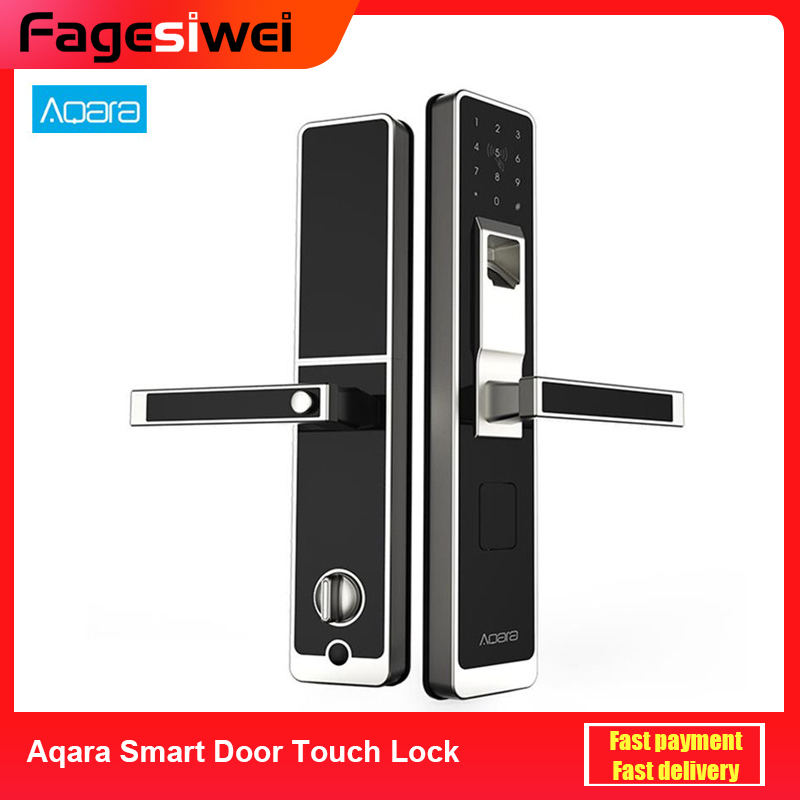 Aqara Smart Door Touch Lock ZigBee Connection For Home Security Anti-Peeping Design Work With Mi Home APP Support Android IOS image