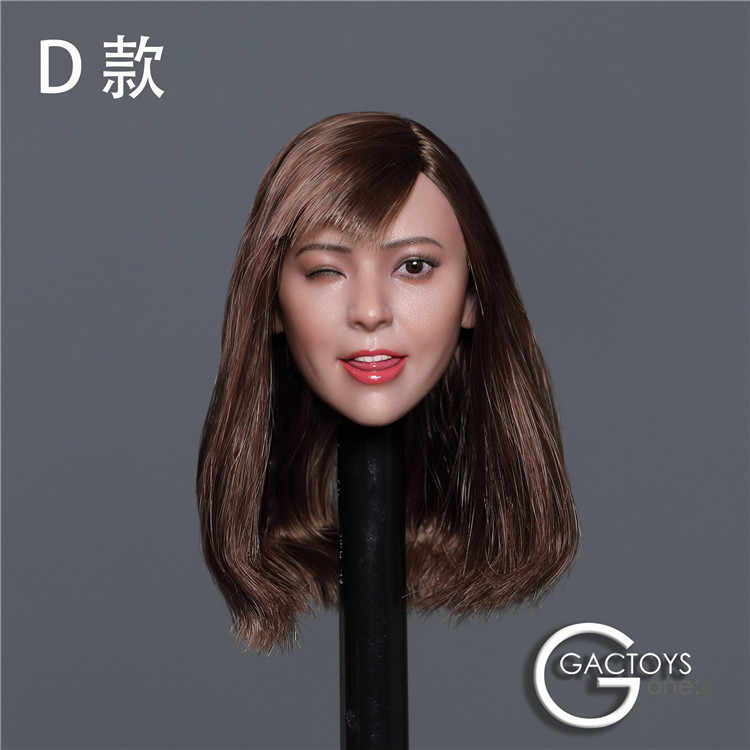 "GACTOYS 1//6 12/"" Cute Female Figure Expression Head Sculpt Carved For Lovely Girl"