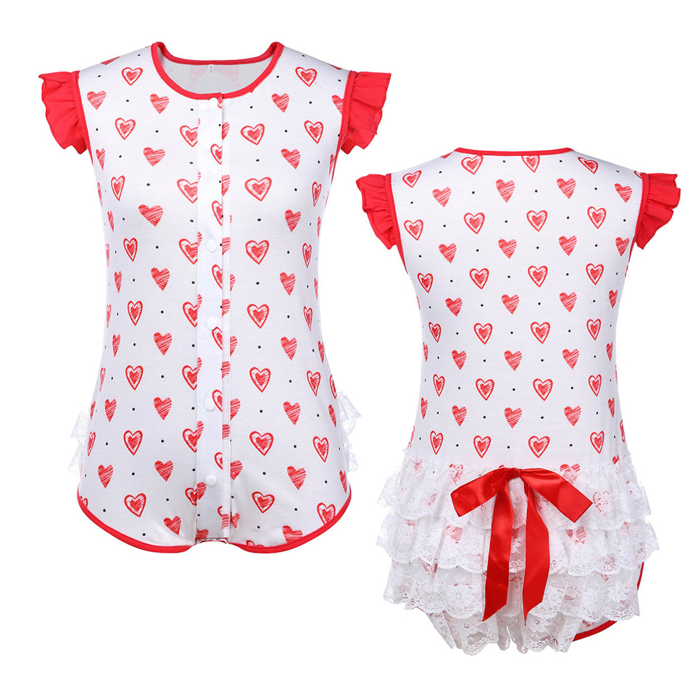 Sweethearts Lace Butt Onesie Abdl Clothing Sissy Romper