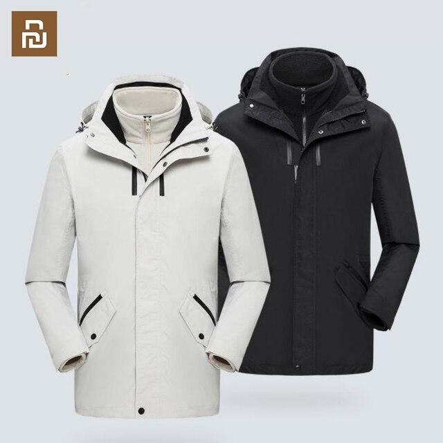 Дорожная куртка средней длины, съемное многофункциональное хранилище, ветрозащитное и водонепроницаемое уличное пальто для альпинизма