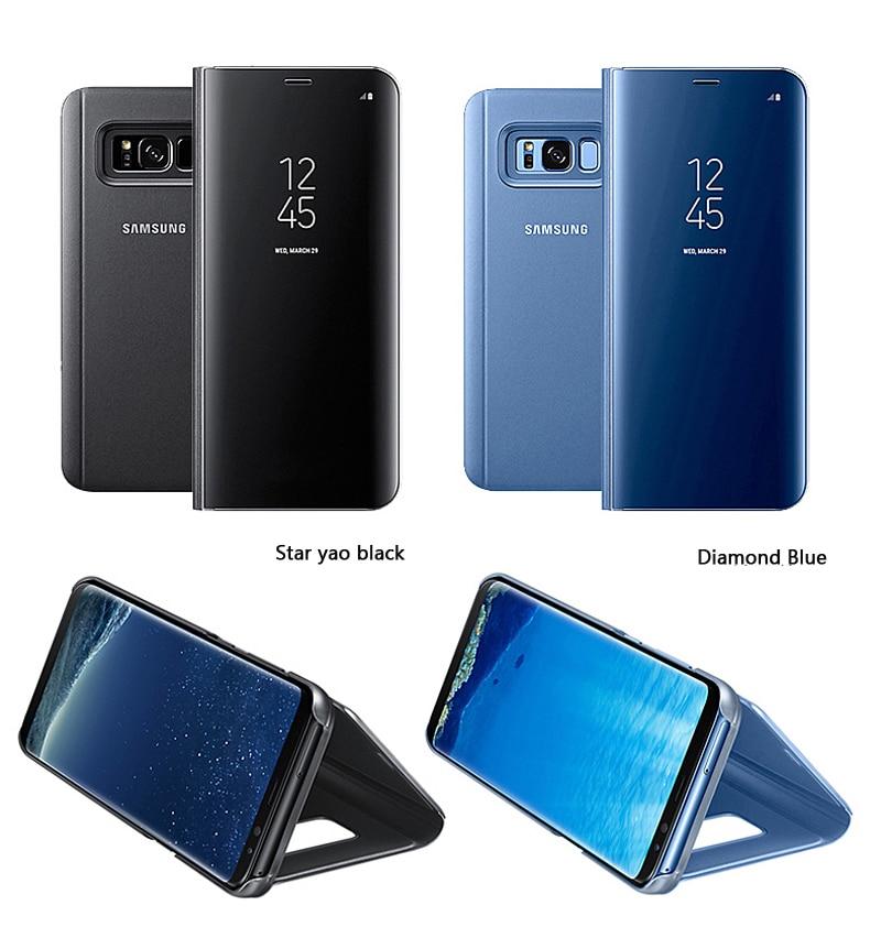 SAMSUNG Original miroir couverture vue claire Flip téléphone étui pour SAMSUNG Galaxy S8 S8 + S8 Plus projet Dream G9508 G955 G950U S8plus - 4