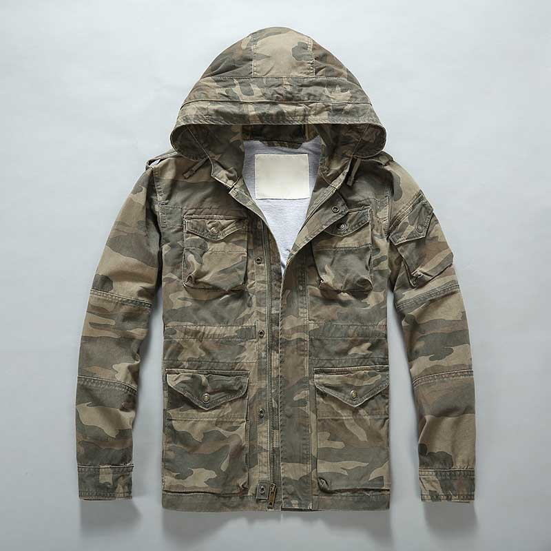 Outdoor Camouflage Jacket Men Casual Military Style Hooded Jacket and Coat Fashion Windbreaker Army Cardigan Man Clothing