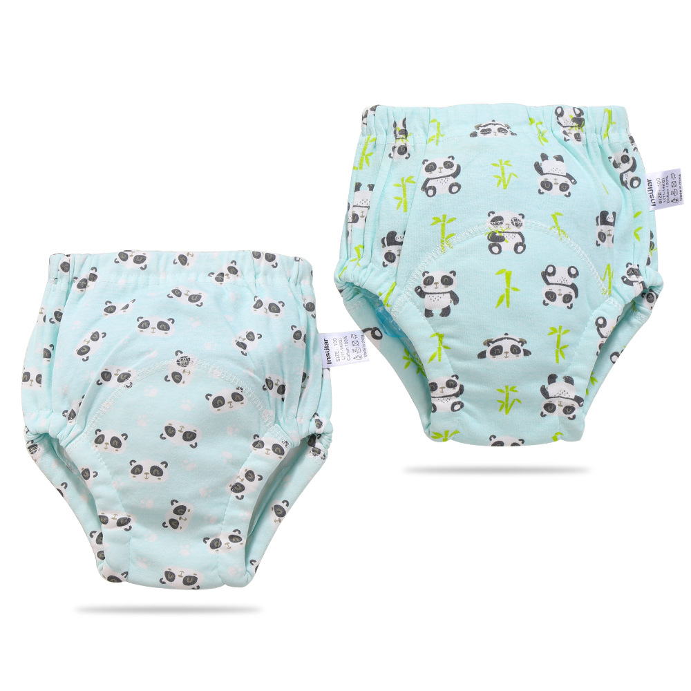 2 Packaged In The Shape Of Bars Pure Cotton Washable Baby Training Pants Training Pants 6-Layer Gauze Diaper Pants Baby Products