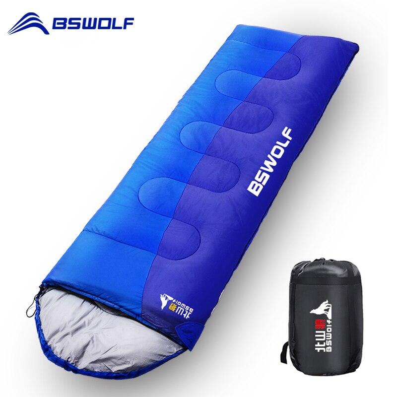 bswolf acampamento saco de dormir ultraleve quente envelope mochila saco de dormir para adulto viagem ao