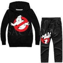 Anime Ghostbusters Printed Kids Tracksuit Boys Girls Sportswear Sweatshirt Autumn Winter 2pcs Set Outwear Hoodies + Pants