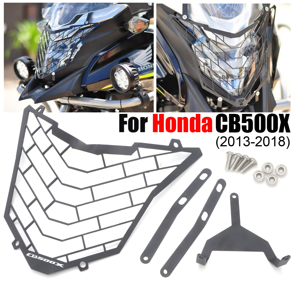 Motorcycle retro Headlight Head Lamp Grill Guard Cover Protector mask For <font><b>Honda</b></font> <font><b>CB500X</b></font> 2013- <font><b>2018</b></font> image