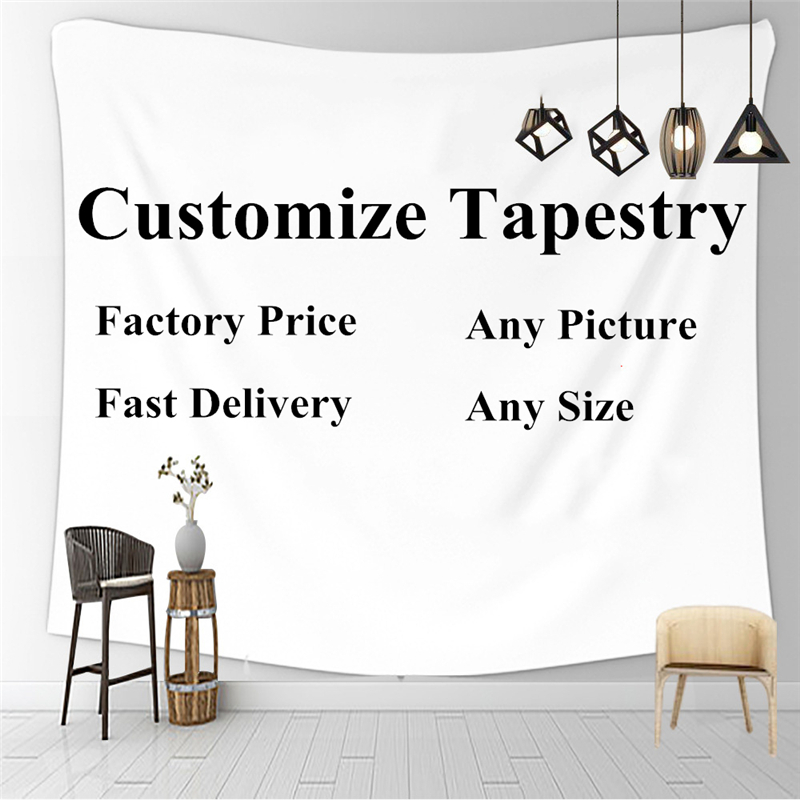 Customize Tapestry Wall Hanging Aesthetic Tapestries Beach Towel Shawl Throw Sheet Home Room Decor