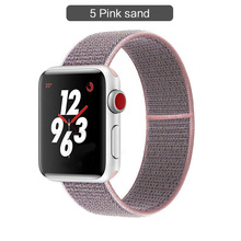Band For Apple watch Series 3/2/1 38MM 42MM Nylon Soft Breathable Replacement Strap