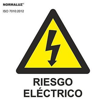 Señal adhesiva Riesgo Electrico 5x5cm Amarillo