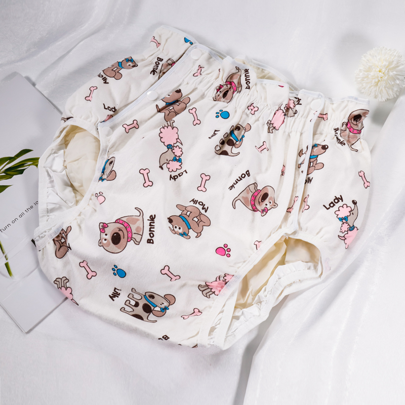 Free Shipping  FUUBUU2215-Cute Dog-S Adult Diaper/ Incontinence Pants/ Diaper Changing Mat/Adult Baby