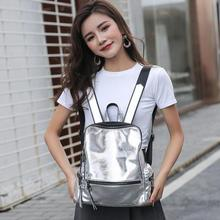Fashion women bags personality silver reflective trend backpack shoulder bag female backpack student backpack youth school bag