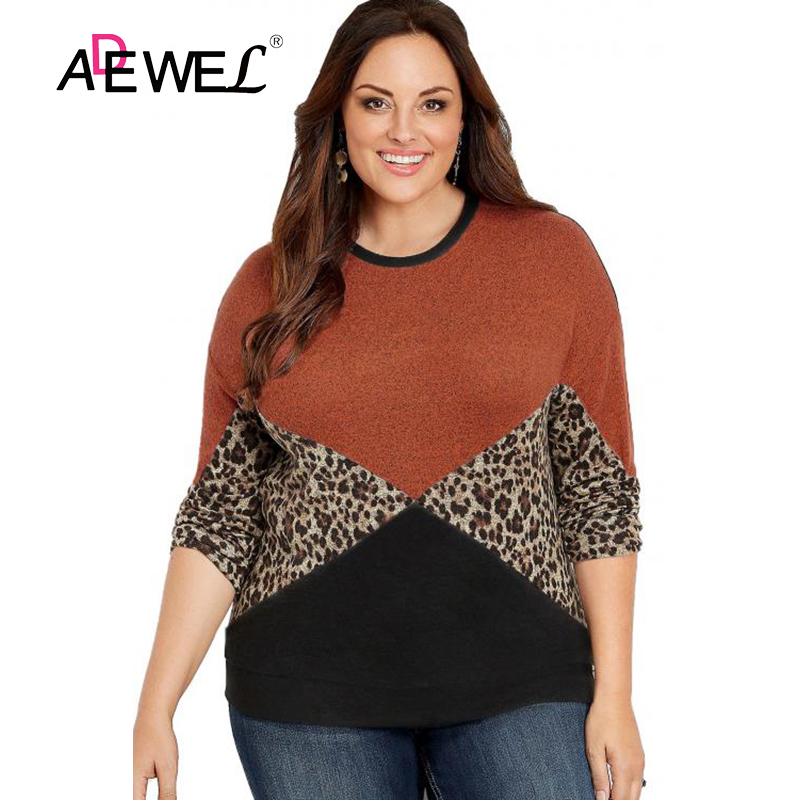 NEW Gray Animal Print Long Sleeve Plus Size T-Shirt 5x