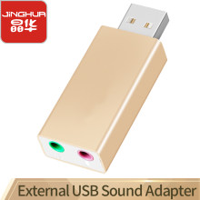 JH USB Sound Card USB Audio Interface headphone Adapter Soundcard for Mic Speaker Laptop PS4 Computer External Sound Card(China)