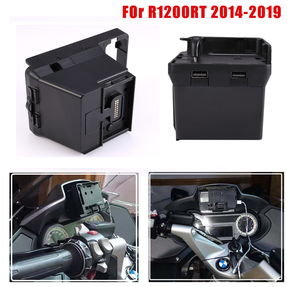 R1200RT support de Navigation de téléphone de moto pour BMW R 1200 RT support pour téléphone USB support de montage de charge pour BMW R1200RT 2014-2019