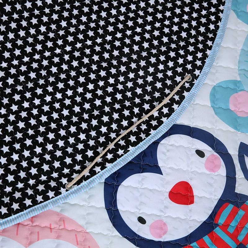 H6763c0d496e2493db8f707a264166f39a Kid Soft Carpet Rugs Cartoon Animals Fox Baby Play Mats Child Crawling Blanket Carpet Toys Storage Bag Kids Room Decoration