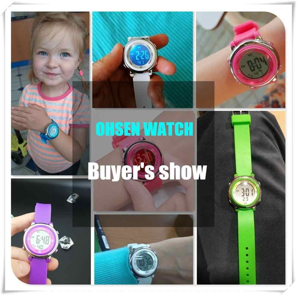 OHSEN ساعة متعددة الوظائف الملونة الرقمية رجالي ساعات العلامة التجارية الفاخرة LED ساعة الموضة الرجال مقاوم للماء الذكور الرياضة الساعات