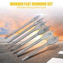 Broca de espada Pro Woodingwork, juego de 6 uds., HSS, herramienta para carpintería, broca de espada s, madera dura, broca plana para Pala, carpintero