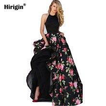 Длинное платье макси летние платья для женщин цветочный принт