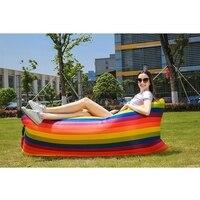 Aufblasbare Sofa Faul Tasche Camping Reise Außen Ultraleicht Schlafsäcke air bett Erwachsene Strand Lounge Stuhl Schnelle Faltung-in Garten-Sofas aus Möbel bei