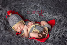Captain Marvel Thor Baby General Suit Newborn Baby Girls Boys Crochet Knit Costume Photography Prop Outfits(China)