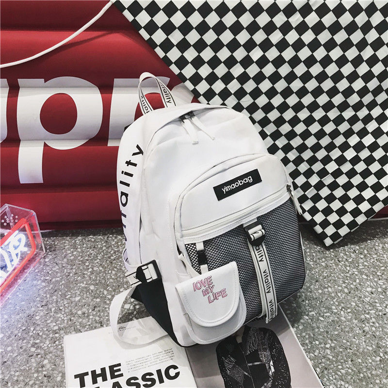 Junior High School Bags Backpack Girls Boys Teenage Personality Street Large Bag School Women Bookbags Student Bagpack Campus