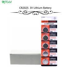 цена на 100Pcs=20Card CR2025 3V Lithium Coin Cells Button Battery BR2025 DL2025 KCR2025 2025 L12 EE6226