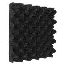 25x25x5 см черное яйцо Звукоизоляционная пена ящик студия акустическая пена звукоизоляция лечение яйцо профиль пена