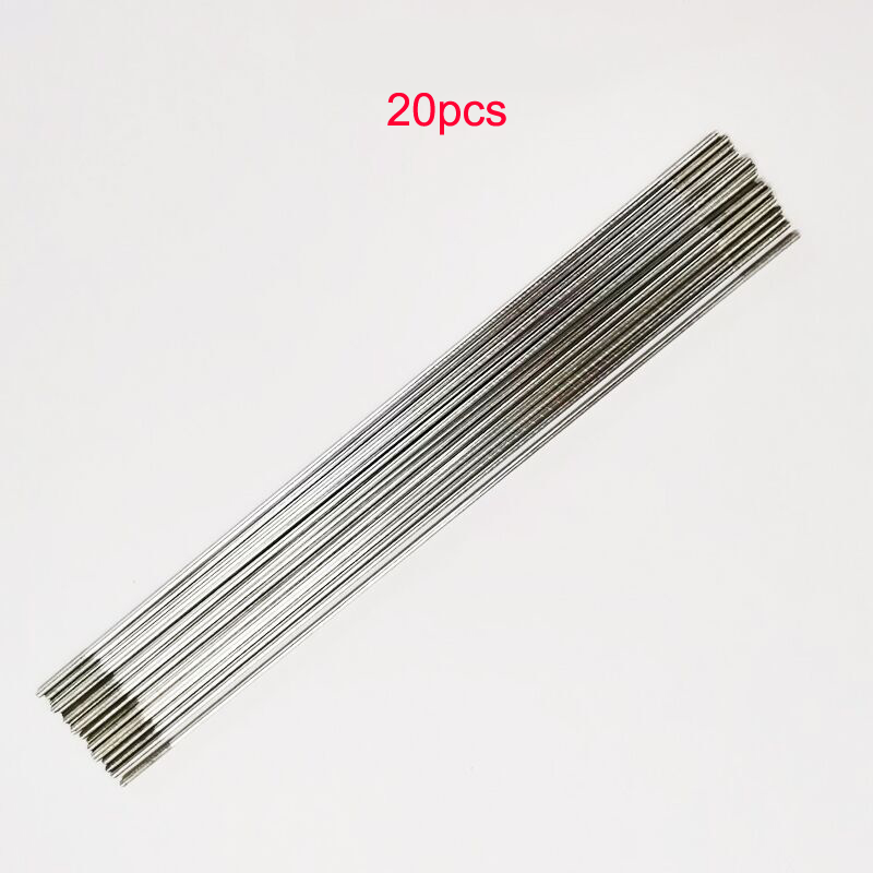 20Pcs Aircraft Lever Servo Linkage Pushrod Double Thread Rod Diameter 1.5MM x180MM Single 1.2MM x300MM Iron Plating Parts for RC image