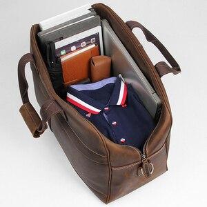 Image 5 - MAHEU עור Weekender תיק לגבר בציר פרה עור נסיעות מזוודות תיק עור crossbody כתף תיק נסיעה תיק