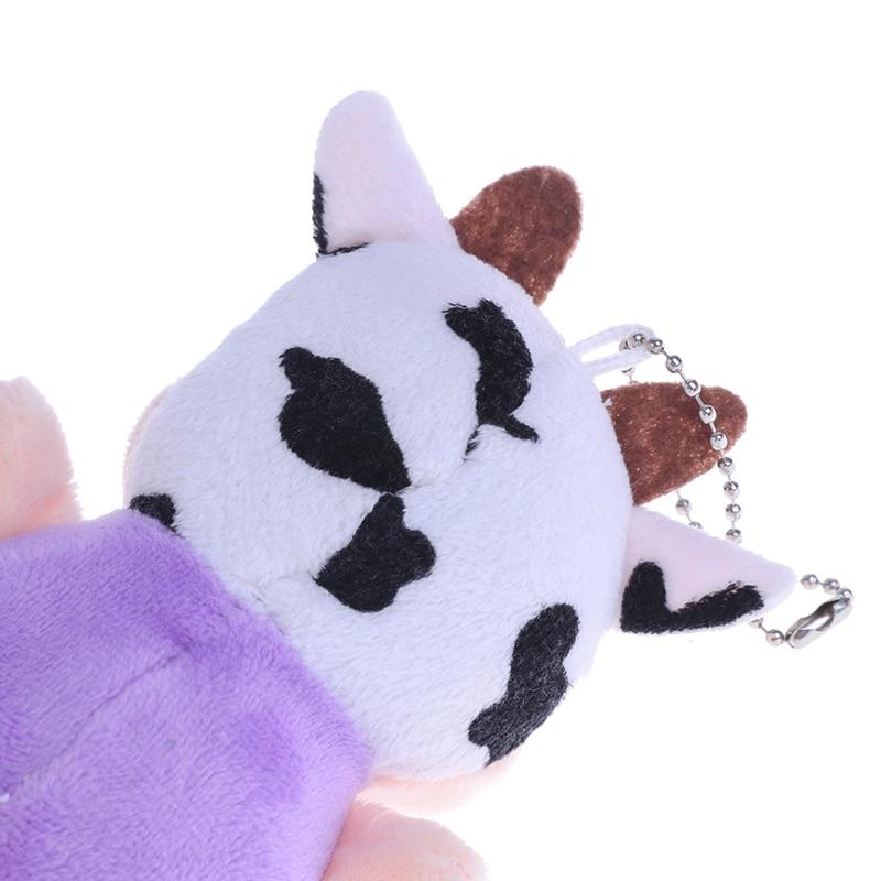 1 Pc New 10cm Little Cow Stuffed Animal Plush Toys , Key chain Plush Dolls , Kid's Plush Toys Chinese New Year-5