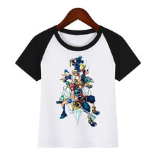 Kingdom Hearts Children New Cartoon T-shirt Boy Girl Funny Tops Hipster Summer Tees Tshirts Outfit Kids Fashion Clothing T Shirt harajuku fashion graphic tees women colored cactus t shirt slim fit cute girl s tshirts tees