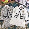 6654 рождественское благодарение, осенне-зимний комплект одежды принцессы для маленьких девочек, верхняя одежда, топ + юбки, оптовая продажа о...