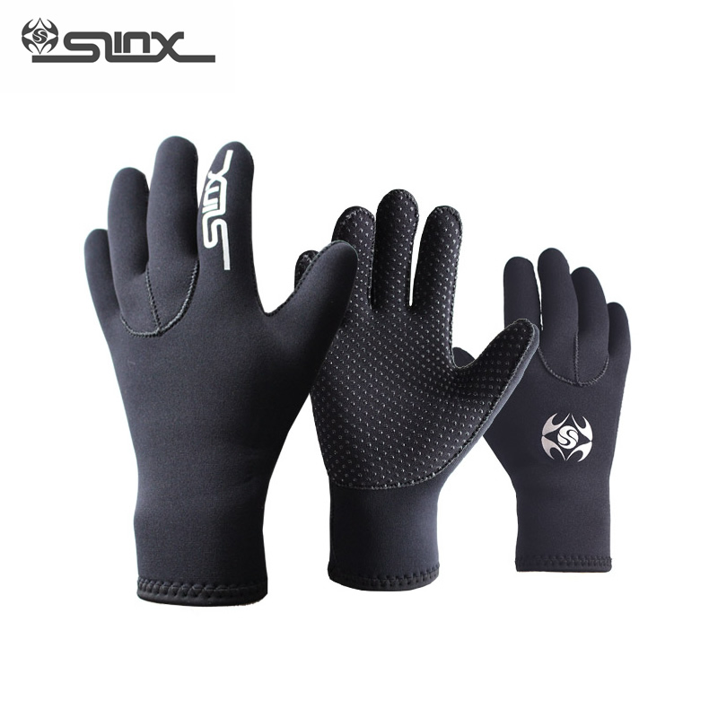SLINX 3mm Neoprene Warm Scuba Diving Gloves Snorkeling Spearfishing Windsurfing Surfing Boating Anti-scratch Gloves Men Women