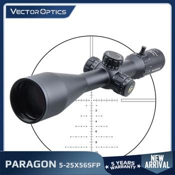 Vector Optics Gen2 Paragon 5-25x56 Tactical Riflescope Hunting Rifle Scope 1/10 MIL LeREE Lens 90% Light 2KM Long Range .338 1