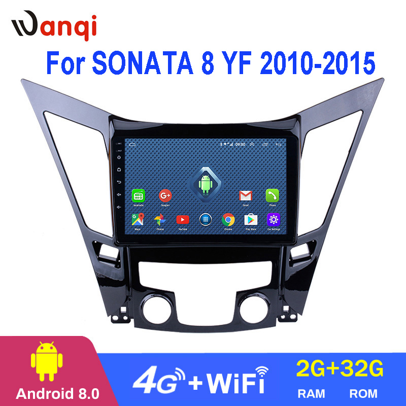 4G Lte All Netcom 9 Inch Android 8.0 For HYUNDAI Sonata 8 Sonata YF 2010-2015 HD Navigation Car Multimedia Player Car Accessory