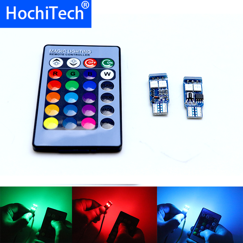 Top Quality T10 W5W <font><b>LED</b></font> Car Lights RGB With Remote For <font><b>mercedes</b></font> <font><b>benz</b></font> w204 cla amg w204 w203 w211 <font><b>w205</b></font> w124 <font><b>w205</b></font> w210 glk gla image