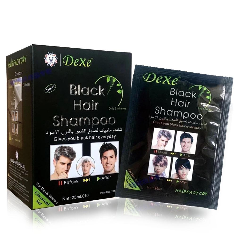 Tintura de Cabelo Influência da Remoção do Cabelo Salon Shampoo Unissex Planta Tingimento Moda Preto Cinza Forte Natural