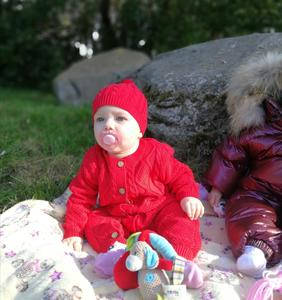 Image 5 - Orangemom mode stricken overall + caps für mädchen baby weihnachten kleidung unisex neue jahr geschenk neugeborenen baby body twins