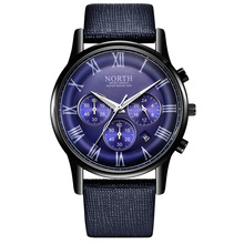 Hot 2019 Fashion Quarz Watch For Men Hipster Simple Bussiness Six-Pin Leather Belt Zinc Alloy Case Casual Waterproof  Watch Male six pointer alloy diamante watch page 4